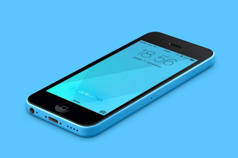 iPhone 5C Blue Wallpaper
